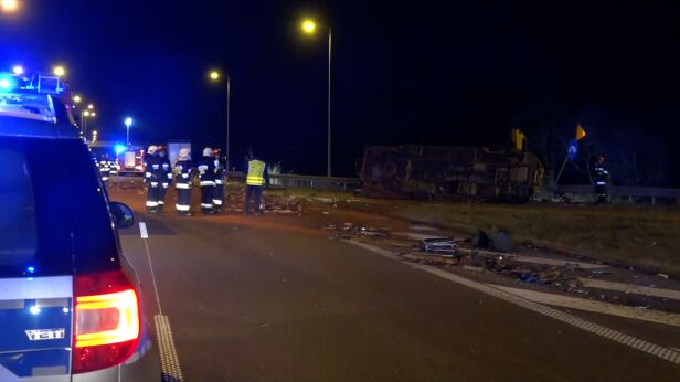 Wypadek na autostradzie TVN24