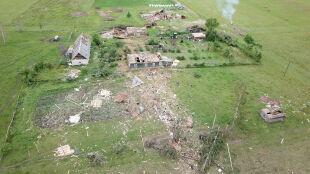 Budynki zmiecione z powierzchni ziemi. Skutki przejścia trąby powietrznej