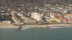Wypłukana przez falę sztormową plaża w Long Branch (USGS)