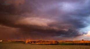 Groźne i malownicze niebo, tęcza. Pogodowe relacje Reporterów 24
